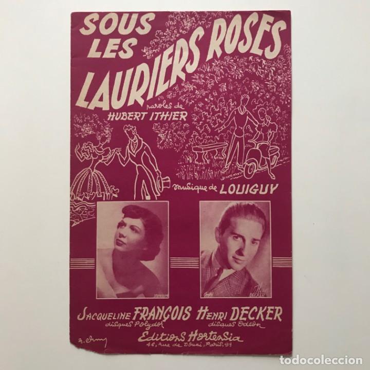 Sous les Lauriers Roses paroles de Hubert Ithier 17,4x26,9 cm - 159380462