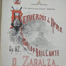 Partituras musicales: ZOZAYA EDICION PARTITURAS RECOPILACION PARTITURAS VARIAS. Lote 159385726