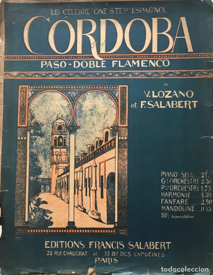 CORDOBA. PASO DOBLE FLAMENCO 27,4X35 CM (Música - Partituras Musicales Antiguas)