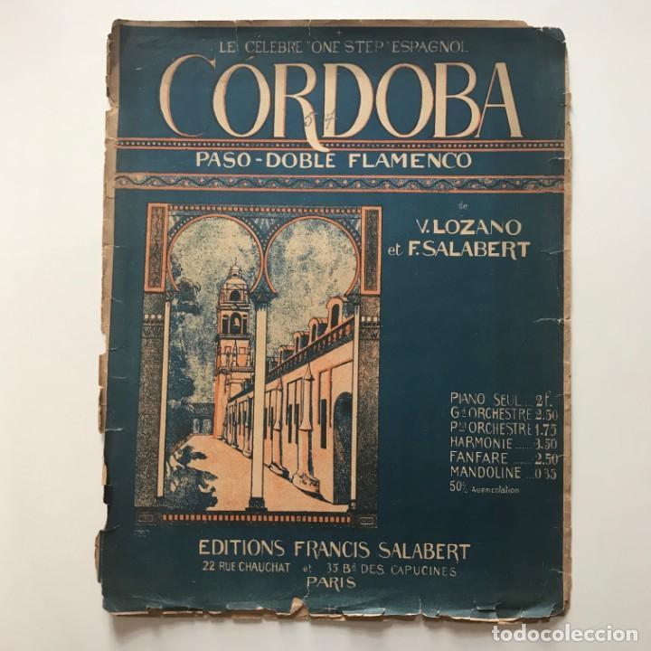 Partituras musicales: Cordoba. paso doble flamenco 27,4x35 cm - Foto 2 - 159388378