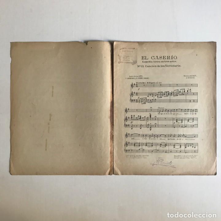 Partituras musicales: El Caserío. Comedia lírica en tres actos. J. Guridi 25,5x33 cm - Foto 3 - 159391510