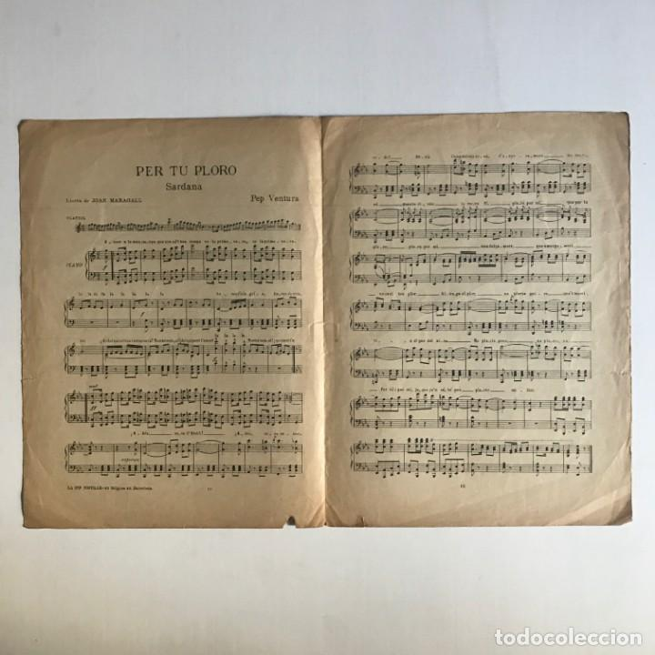 Partituras musicales: Per tu ploro. Sardana. Letra de J. Maragall. Música de Pep Ventura 25x33,5 cm - Foto 3 - 159392062