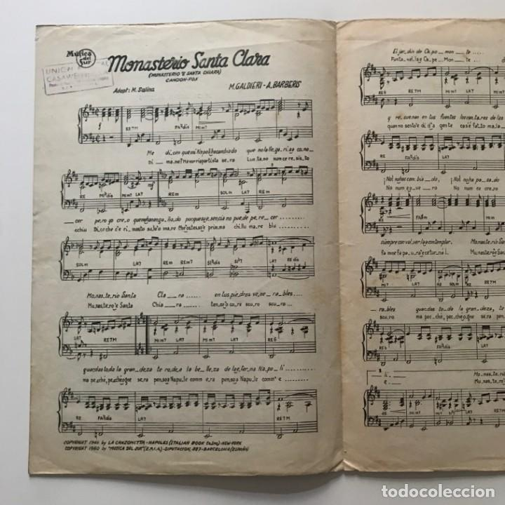 Partituras musicales: Monasterio Santa Clara. Canción Fox. M.Galdieri. A.Barberis. Jorge Sepúlveda 22x32 cm - Foto 3 - 159434270