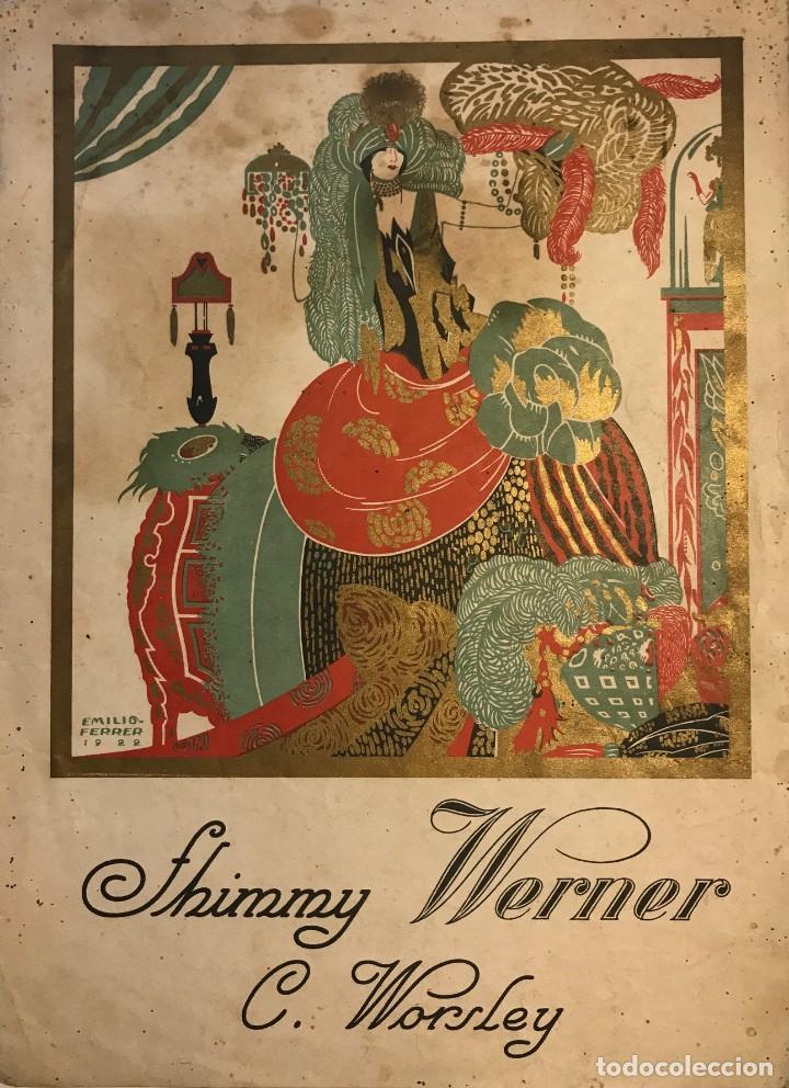 SHIMMY WERNER. C. WORSLEY 24,6X34 CM (Música - Partituras Musicales Antiguas)