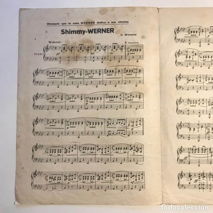 Partituras musicales: Shimmy Werner. C. Worsley 24,6x34 cm - Foto 3 - 159444122