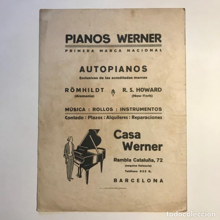 Partituras musicales: Shimmy Werner. C. Worsley 24,6x34 cm - Foto 4 - 159444122