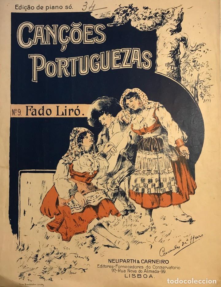 N.9 Fado Liró. Cançoes Portuguezas. Partitura antigua.