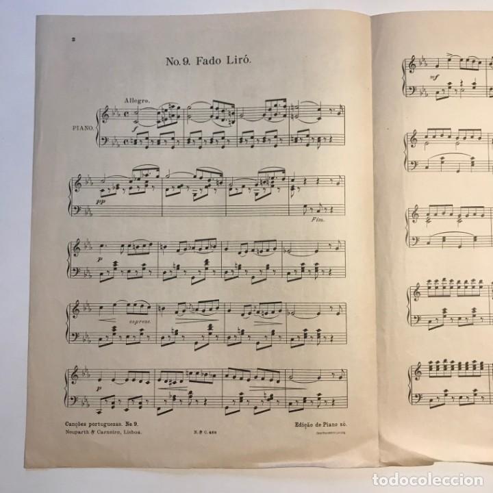 Partituras musicales: N.9 Fado Liró. Cançoes Portuguezas. Partitura antigua. - Foto 3 - 159444978