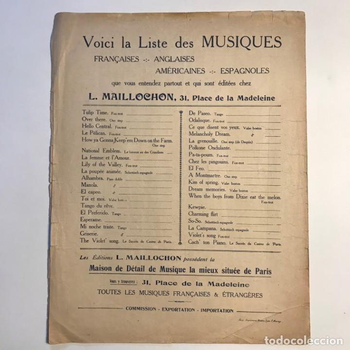 Le tango du rêve. Ed. V Malderen. Partitura antigua.