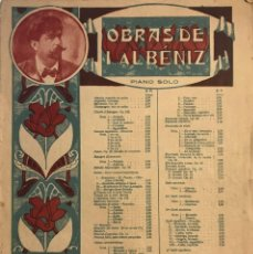 Partituras musicales: OBRAS DE I. ALBÉNIZ 26,5X33,7 CM. Lote 159445874