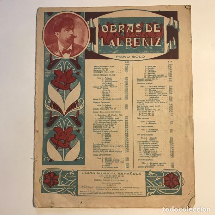 Partituras musicales: Obras de I. Albéniz 26,5x33,7 cm - Foto 2 - 159445874