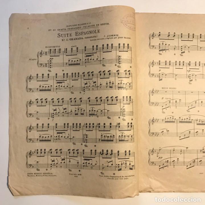 Partituras musicales: Obras de I. Albéniz 26,5x33,7 cm - Foto 3 - 159445874