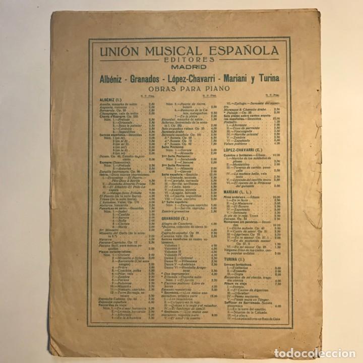Partituras musicales: Obras de I. Albéniz 26,5x33,7 cm - Foto 4 - 159445874
