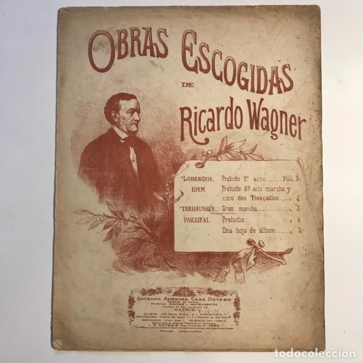 Partituras musicales: Obras escogidas de Ricardo Wagner 26x33,5 cm - Foto 2 - 159446058