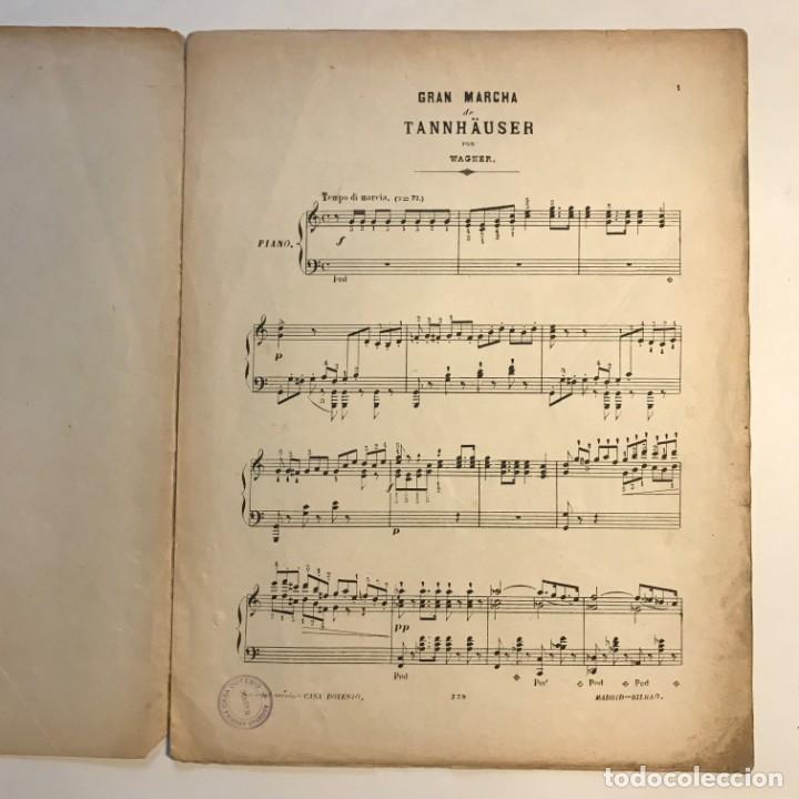 Partituras musicales: Obras escogidas de Ricardo Wagner 26x33,5 cm - Foto 3 - 159446058