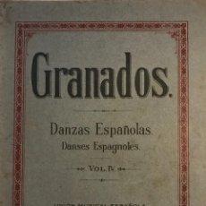 Partituras musicales: GRANADOS. DANZAS ESPAÑOLAS. VOL. IV. 23,4X31,5 CM. Lote 159446310