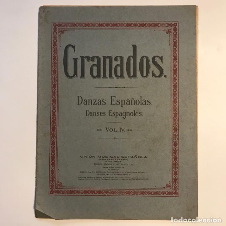 Partituras musicales: Granados. Danzas españolas. Vol. IV. 23,4x31,5 cm - Foto 2 - 159446310