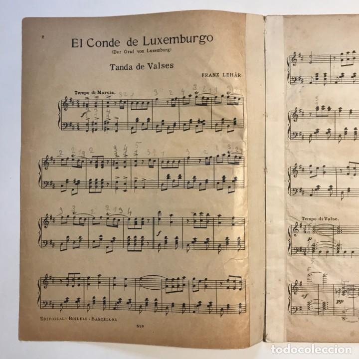 Partituras musicales: El conde de Luxemburgo Opereta en tres actos 23x30 cm - Foto 3 - 159446538