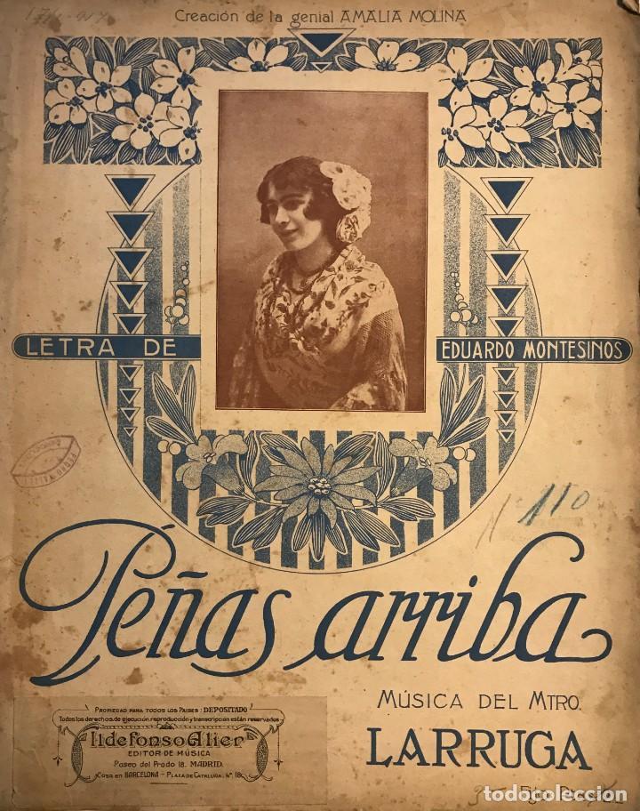 PEÑAS ARRIBA. MÚSICA DEL MAESTRO LARRUGA 26,3X33 CM (Música - Partituras Musicales Antiguas)