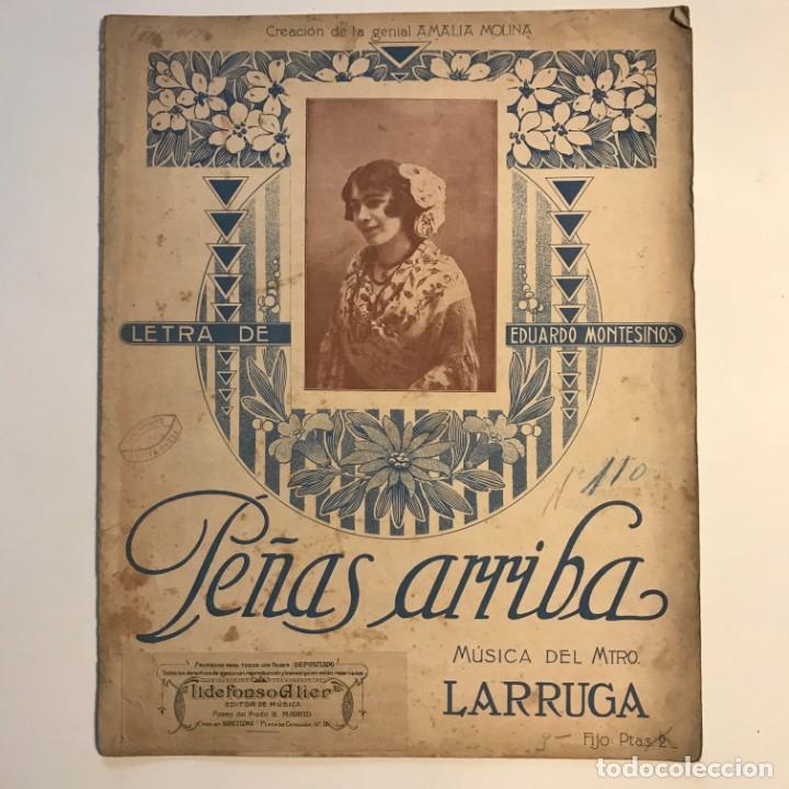 Partituras musicales: Peñas arriba. Música del maestro Larruga 26,3x33 cm - Foto 2 - 159446714