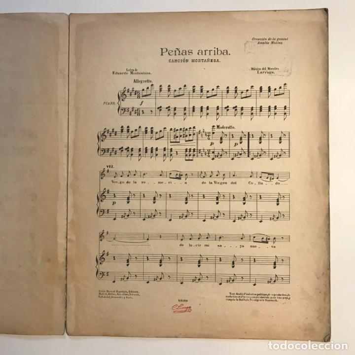 Partituras musicales: Peñas arriba. Música del maestro Larruga 26,3x33 cm - Foto 3 - 159446714