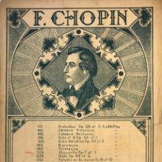 Partituras musicales: MAZURKA. F. CHOPIN 23X32 CM. Lote 159446822