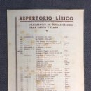 Partituras musicales: MÚSICA. REPORTORIO LIRICO. FRAGMENTOS DE ÓPERAS CÉLEBRES PARA CANTO Y PIANO.MOZART (FÍGARO). Lote 159571818