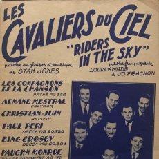 Partituras musicales: LES CAVALIERS DU CIEL 17,5X26,9 CM. Lote 159592122