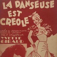 Partituras musicales: LA DANSEUSE EST CRÉOLE 17,5X26,9 CM. Lote 159592154
