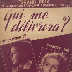 Partituras musicales: QUI ME DÉLIVRERA? 17,5X26,7 CM. Lote 159592270
