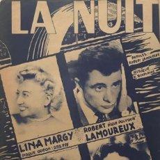 Partituras musicales: LA NUIT 17,5X27 CM. Lote 159601950