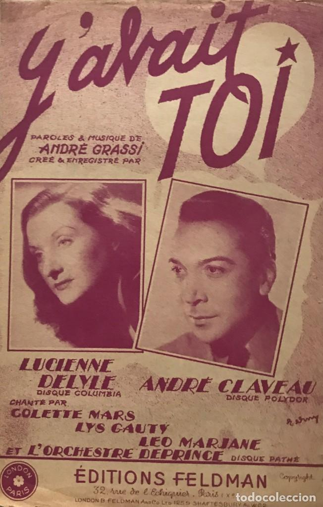 Y'AVAIT TOI... 17,5X27 CM (Música - Partituras Musicales Antiguas)