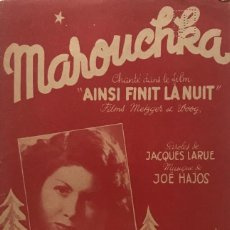 Partituras musicales: MAROUCHKA 17,5X27,5 CM. Lote 159602526