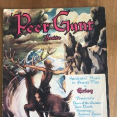 Partituras musicales: PEER GYNT. EDVARD GRIEG. Lote 160336894