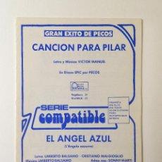 Partituras musicales: PARTITURAS.PECOS/LOS MARISMEÑOS. Lote 160538058