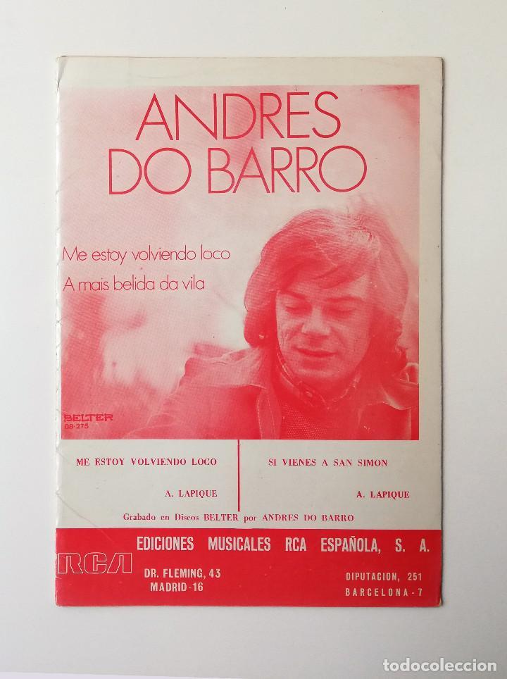 PARTITURAS.ANDRES DO BARRO (Música - Partituras Musicales Antiguas)