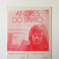 Partituras musicales: PARTITURAS.ANDRES DO BARRO. Lote 160594558
