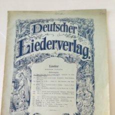Partituras musicales: DEUTSCHER LIEDERVERLAG - LIEDER - ANTIGUA PARTITURA BREITKOPF & HARTEL CIRCA 1900 // BACH. Lote 161329222
