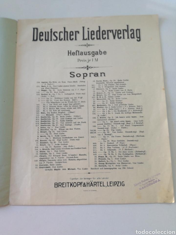 Partituras musicales: DEUTSCHER LIEDERVERLAG - Lieder - ANTIGUA PARTITURA BREITKOPF & HARTEL CIRCA 1900 // BACH - Foto 2 - 161329222