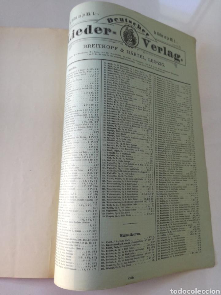 Partituras musicales: DEUTSCHER LIEDERVERLAG - Lieder - ANTIGUA PARTITURA BREITKOPF & HARTEL CIRCA 1900 // BACH - Foto 3 - 161329222