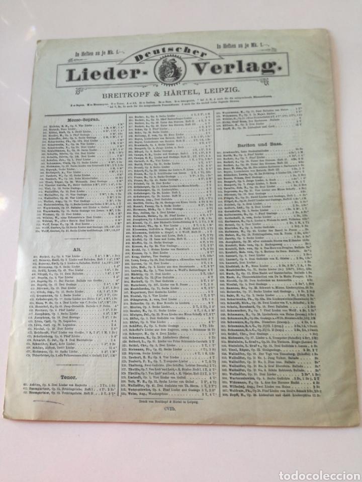Partituras musicales: DEUTSCHER LIEDERVERLAG - Lieder - ANTIGUA PARTITURA BREITKOPF & HARTEL CIRCA 1900 // BACH - Foto 4 - 161329222