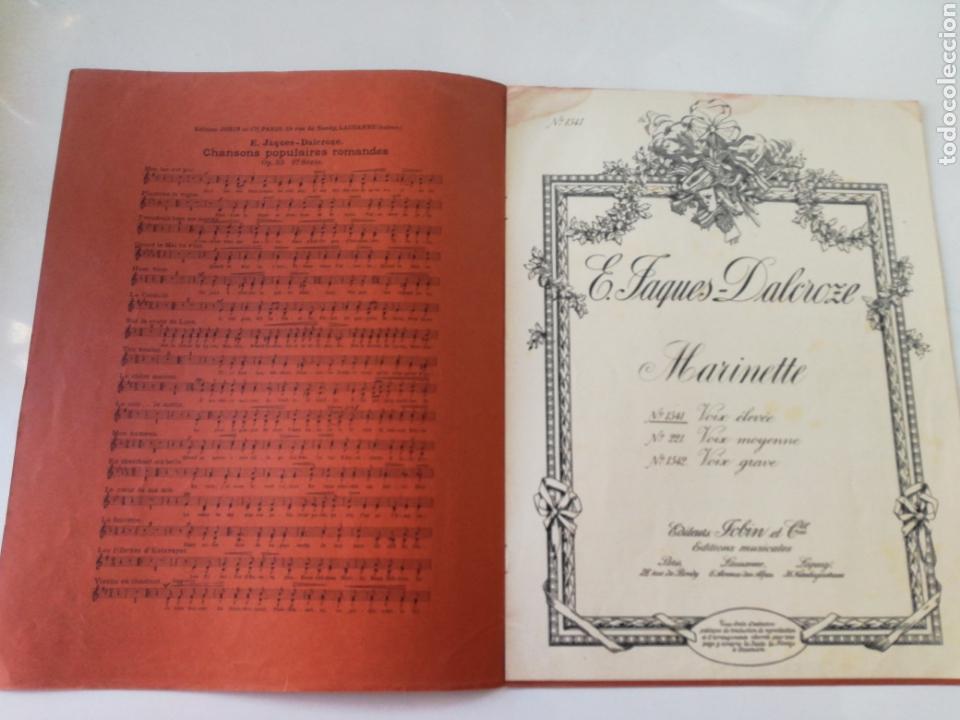 Partituras musicales: E. TAGUES - DALCROZE - MARINETTE - ANTIGUA PARTITURA JOBIN ET CIE CIRCA 1900 - Foto 2 - 161333954