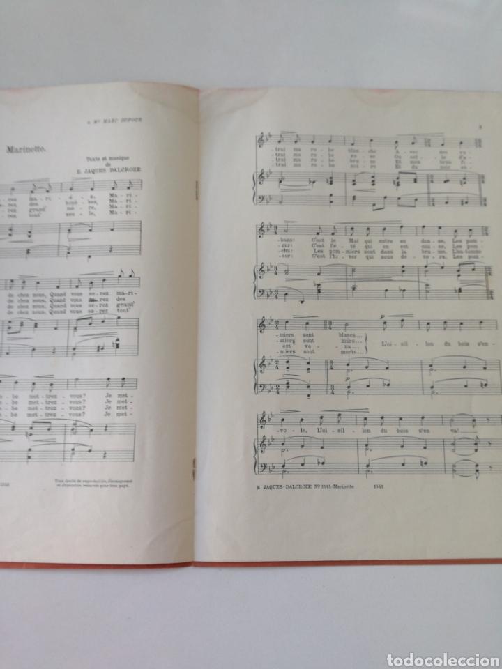 Partituras musicales: E. TAGUES - DALCROZE - MARINETTE - ANTIGUA PARTITURA JOBIN ET CIE CIRCA 1900 - Foto 3 - 161333954