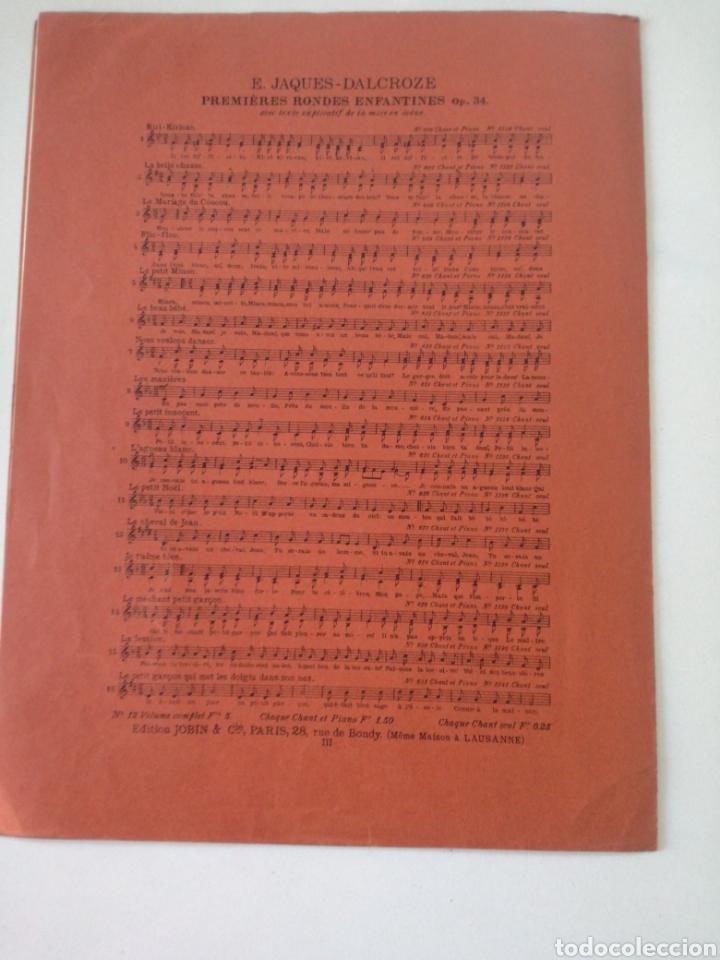 Partituras musicales: E. TAGUES - DALCROZE - MARINETTE - ANTIGUA PARTITURA JOBIN ET CIE CIRCA 1900 - Foto 4 - 161333954