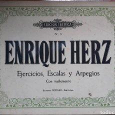 Partituras musicales: PARTITURA N°9 ENRIQUE HERZ EJERCICIOS ESCALAS Y ARPEGIOS PARA PIANO. Lote 162096274
