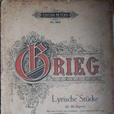Partituras musicales: PARTITURA PIEZAS LÍRICAS DE GRIEG. Lote 162097612