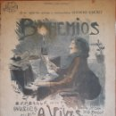 Partituras musicales: PARTITURA BOHEMIOS ZARZUELA EN UN ACTO DEL MAESTRO A.VIVES. Lote 162133074