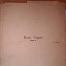Partituras musicales: PARTITURA N°5 DANZA HUNGARA. Lote 162136176
