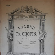 Partituras musicales: PARTITURA COLLECTION LITOLFF VALSES FR.CHOPIN VIOLINO. Lote 162217237