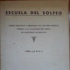 Partituras musicales: CURSO PRÁCTICO DE SOLFEO MUSICAL EMPORIUM BARCELONA 1964. Lote 162252221